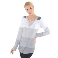 Elegant Shades Of Gray Stripes Pattern Striped Tie Up Tee