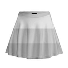Elegant Shades Of Gray Stripes Pattern Striped Mini Flare Skirt