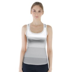 Elegant Shades Of Gray Stripes Pattern Striped Racer Back Sports Top