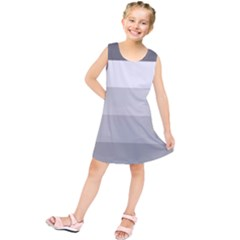 Elegant Shades Of Gray Stripes Pattern Striped Kids  Tunic Dress