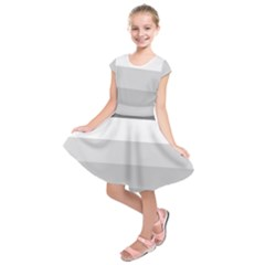 Elegant Shades Of Gray Stripes Pattern Striped Kids  Short Sleeve Dress