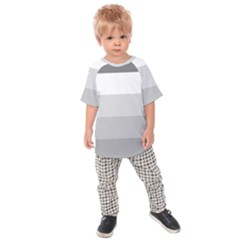 Elegant Shades Of Gray Stripes Pattern Striped Kids Raglan Tee