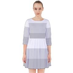 Elegant Shades Of Gray Stripes Pattern Striped Smock Dress