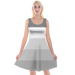 Elegant Shades Of Gray Stripes Pattern Striped Reversible Velvet Sleeveless Dress