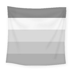 Elegant Shades Of Gray Stripes Pattern Striped Square Tapestry (large)