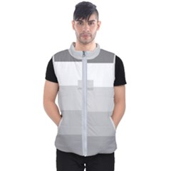 Elegant Shades Of Gray Stripes Pattern Striped Men s Puffer Vest