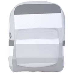 Elegant Shades Of Gray Stripes Pattern Striped Full Print Backpack