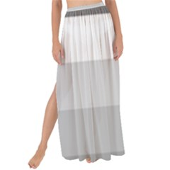 Elegant Shades Of Gray Stripes Pattern Striped Maxi Chiffon Tie Up Sarong