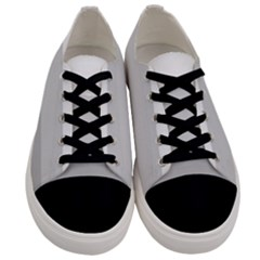 Elegant Shades Of Gray Stripes Pattern Striped Men s Low Top Canvas Sneakers