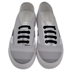 Elegant Shades Of Gray Stripes Pattern Striped Men s Classic Low Top Sneakers