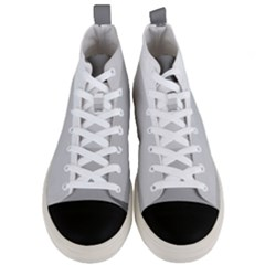 Elegant Shades Of Gray Stripes Pattern Striped Men s Mid Top Canvas Sneakers