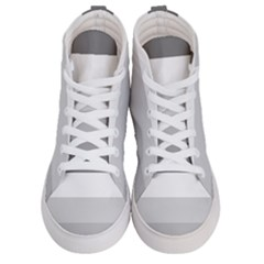 Elegant Shades Of Gray Stripes Pattern Striped Women s Hi Top Skate Sneakers