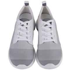 Elegant Shades Of Gray Stripes Pattern Striped Men s Lightweight Sports Shoes