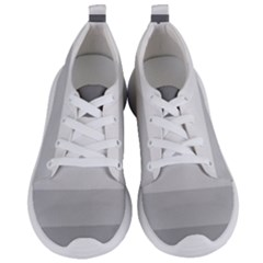 Elegant Shades Of Gray Stripes Pattern Striped Women s Lightweight Sports Shoes