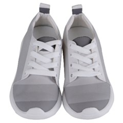 Elegant Shades Of Gray Stripes Pattern Striped Kids  Lightweight Sports Shoes
