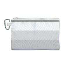 Elegant Shades Of Gray Stripes Pattern Striped Canvas Cosmetic Bag (medium)