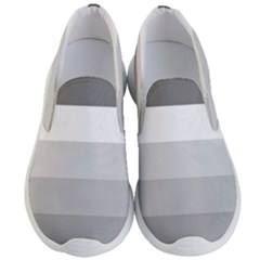 Elegant Shades Of Gray Stripes Pattern Striped Men s Lightweight Slip Ons