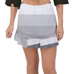 Elegant Shades Of Gray Stripes Pattern Striped Fishtail Mini Chiffon Skirt