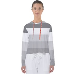 Elegant Shades Of Gray Stripes Pattern Striped Women s Slouchy Sweat