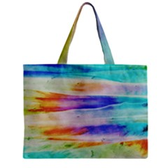 Background Color Splash Zipper Mini Tote Bag by goodart