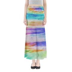 Background Color Splash Full Length Maxi Skirt