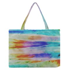 Background Color Splash Zipper Medium Tote Bag by goodart