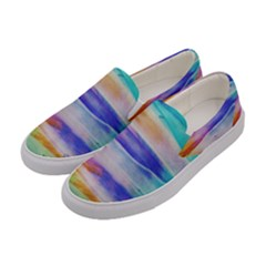 Background Color Splash Women s Canvas Slip Ons by goodart