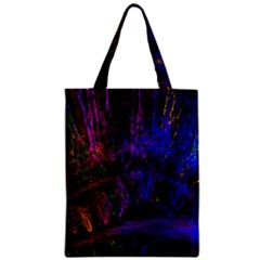 Color Splash Trail Zipper Classic Tote Bag