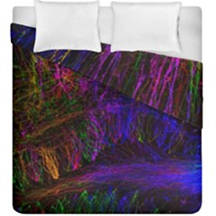 Color Splash Trail Duvet Cover Double Side (king Size) by goodart