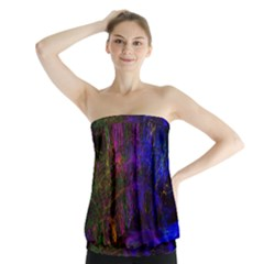 Color Splash Trail Strapless Top by goodart