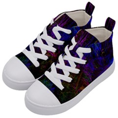 Color Splash Trail Kid s Mid Top Canvas Sneakers by goodart