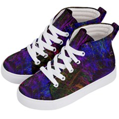 Color Splash Trail Kid s Hi Top Skate Sneakers by goodart