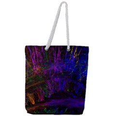 Color Splash Trail Full Print Rope Handle Tote (large) by goodart
