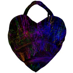 Color Splash Trail Giant Heart Shaped Tote by goodart