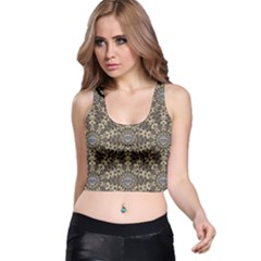 I Am Big Cat With Sweet Catpaws Decorative Racer Back Crop Top