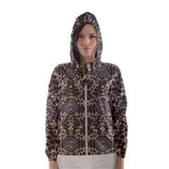 I Am Big Cat With Sweet Catpaws Decorative Hooded Wind Breaker (women)