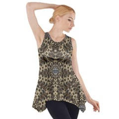 I Am Big Cat With Sweet Catpaws Decorative Side Drop Tank Tunic