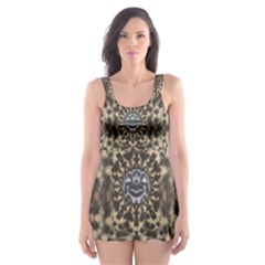 I Am Big Cat With Sweet Catpaws Decorative Skater Dress Swimsuit