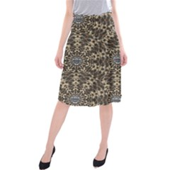 I Am Big Cat With Sweet Catpaws Decorative Midi Beach Skirt