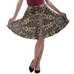 I Am Big Cat With Sweet Catpaws Decorative A Line Skater Skirt