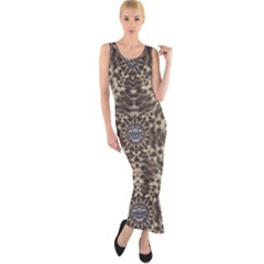 I Am Big Cat With Sweet Catpaws Decorative Fitted Maxi Dress