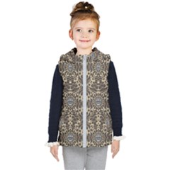 I Am Big Cat With Sweet Catpaws Decorative Kid s Hooded Puffer Vest