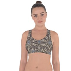 I Am Big Cat With Sweet Catpaws Decorative Cross String Back Sports Bra