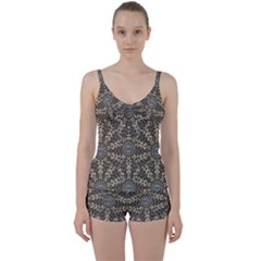 I Am Big Cat With Sweet Catpaws Decorative Tie Front Two Piece Tankini