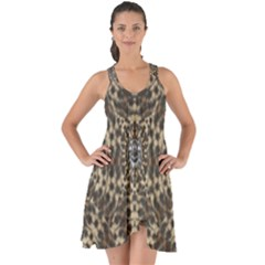 I Am Big Cat With Sweet Catpaws Decorative Show Some Back Chiffon Dress