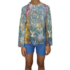 Colorful Abstract Texture  Kids  Long Sleeve Swimwear
