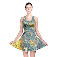 Colorful Abstract Texture  Reversible Skater Dress