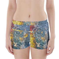 Colorful Abstract Texture  Boyleg Bikini Wrap Bottoms