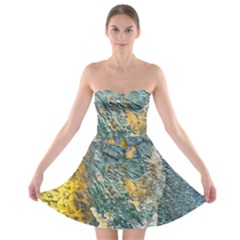 Colorful Abstract Texture  Strapless Bra Top Dress