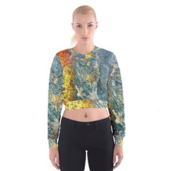 Colorful Abstract Texture  Cropped Sweatshirt
